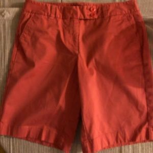 Vineyard Vines Size 6 Coral Color Bermuda Shorts